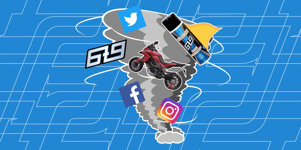 Motorcycles, cleaning products and social media… Oh my!